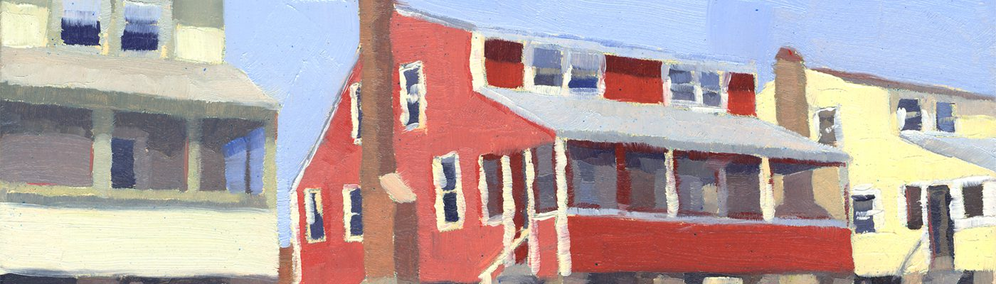 Catherine Christiano, Cottages, Hawk's Nest #3, 2010, limited edition reproduction of oil on panel, 7 x 10 inches.