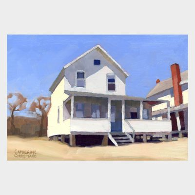 "Painting ""White Cottage, Hawk's Nest #1"""
