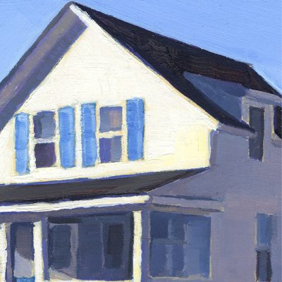 "Detail of painting ""Cottages, Old Lyme #1"""