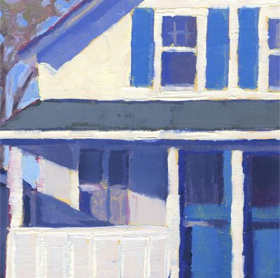 """Detail of painting """"Cottage, Old Lyme #2"""""""