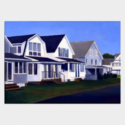 Catherine Christiano, Cottages, Old Lyme #4, 2007, oil on panel, 6 x 8 1/2 inches. Photo credit: Catherine Christiano.
