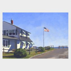 "Painting ""Cottage, Old Lyme Shores #6"""