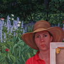 Catherine Christiano, Onlooker, 2011, oil on canvas, 60 x 36 inches. Photo credit: Paul Mutino.
