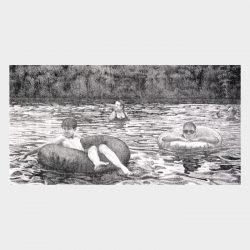 """Lithograph """"Uncas Pond"""""""