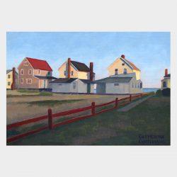 "Painting ""Three Cottages - Twilight"""