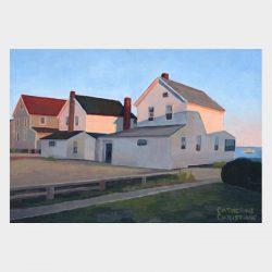 """Painting """"Cottages, Hawk's Nest - Twilight"""""""