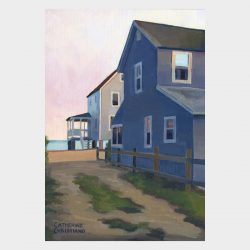 "Painting ""Cottages, Hawk's Nest - Twilight"""