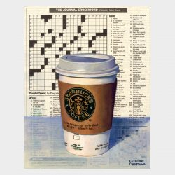 "Painting ""Coffee and Crossword"""
