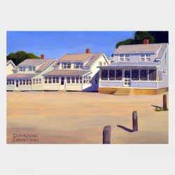 "Painting ""Cottages, White Sands Beach #2"""