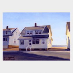 """Painting """"Cottages, White Sands Beach #8"""""""