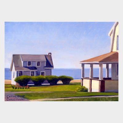 "Painting ""Cottages, White Sands Beach #9"""