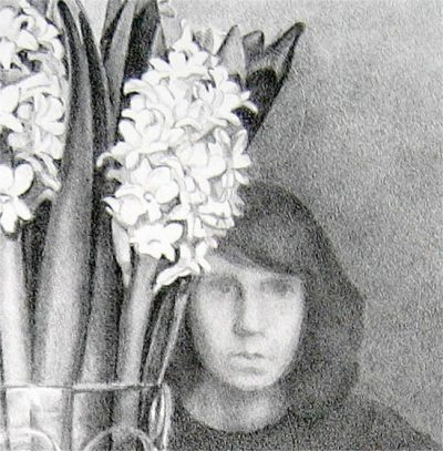 """Detail of lithograph """"Hyacinths"""""""
