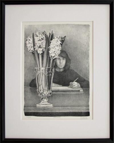 """Framed lithograph """"Hyacinths"""""""