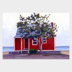"Painting ""Red Cottage"""