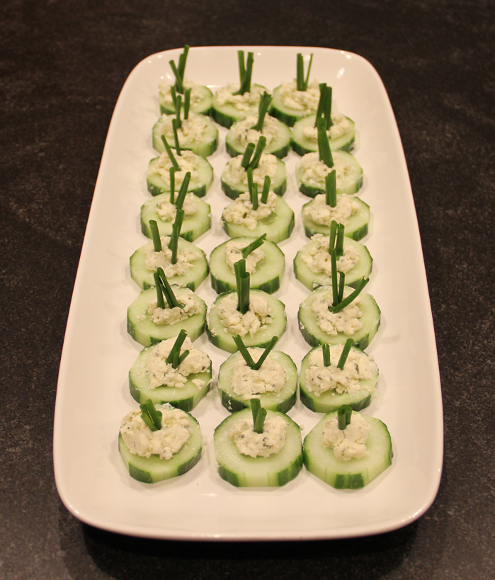 Cucumbers with Boursin Chesse