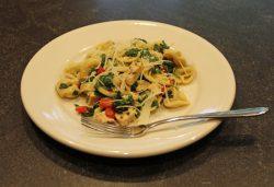 Tortellini Chicken Baby Spinach Salad