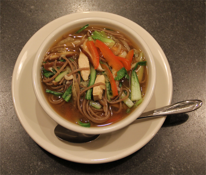 Vegetable Chicken Soba Soup